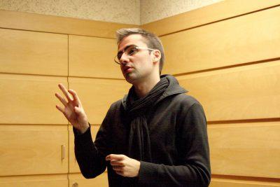 Pablo Valbuena en el curso Arte y Percepción.Espacio perceptible