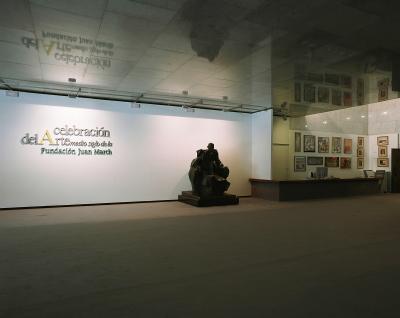 Vista parcial. Exposición Celebración del arte Medio siglo de la Fundación Juan March