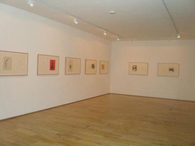 Vista parcial. Exposición Robert Motherwell: Tres poemas de Octavio Paz