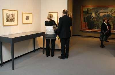 Vista parcial. Exposición Wyndham Lewis, 1882-1957
