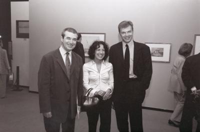 José Jiménez Jiménez, Joanne Berstein y Ian Warrell. Exposición Turner y el mar Acuarelas de la Tate