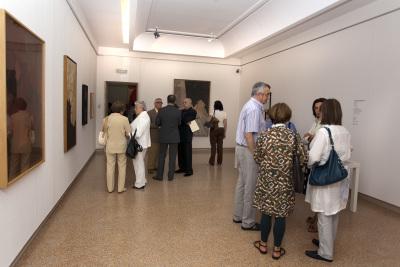 Vista parcial. Exposición Pablo Palazuelo París, 13 Rue Saint Jacques (1948-1968)