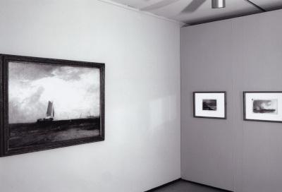 Vista parcial de la exposición Turner y el mar Acuarelas de la Tate
