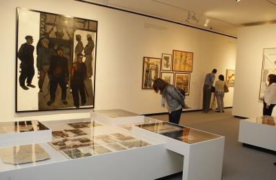Vista parcial. Exposición Aleksandr Deineka (1899-1969). Una vanguardia para el proletariado