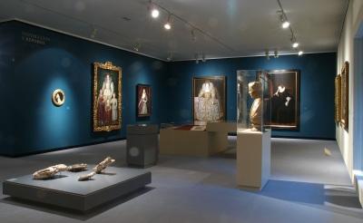 Vista parcial. Exposición La isla del tesoro Arte británico de Holbein a Hockney