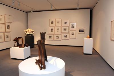 Vista parcial. Exposición Tres escultores ingleses (1952-1982)