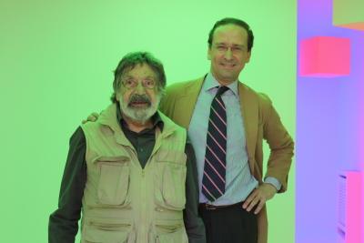 Carlos Cruz-Díez y Manuel Fontán del Junco. Exposición Carlos Cruz-Díez: El color sucede
