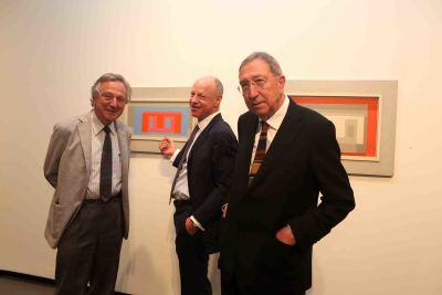 Rafael Moneo, Nicholas Fox Weber y Juan Navarro Baldeweg. Exposición Josef Albers: medios mínimos, efecto máximo