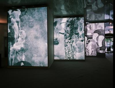 Vista parcial. Exposición La destrucción creadora Gustav Klimt, el Friso de Beethoven y la lucha por la libertad del arte