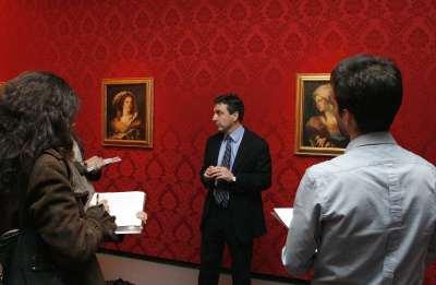 Andrés Úbeda de los Cobos. Rueda de prensa exposición Giandomenico Tiepolo (1727-1804). Diez retratos de fantasía
