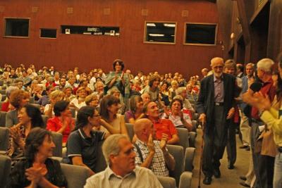 José Luis Sampedro en diálogo con Olga Lucas