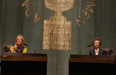 Soledad Puértolas y Margarita Salas