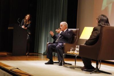 Lucía Franco, Daniel Barenboim y Jesús Ruiz Mantilla