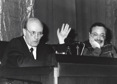 Javier Muguerza y Fernando Savater. Conferencia sobre La infancia recuperada - El pensamiento, hoy