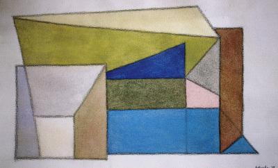 Vista parcial de la exposición Gerardo Rueda: Construcciones