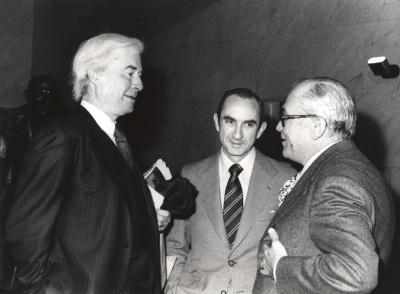 Benjamin H. Brown, José Luis Yuste Grijalba y Fernando Zóbel. Exposición Williem de Kooning Obras recientes