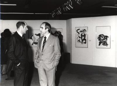 Xavier Fourcade y José Luis Yuste Grijalba. Exposición Williem de Kooning Obras recientes