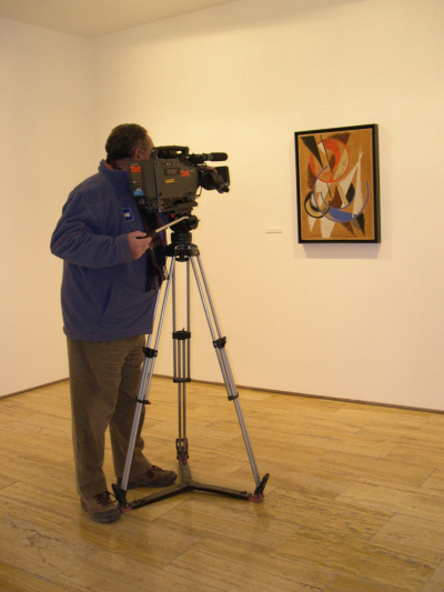 Vista parcial de la exposición Popova
