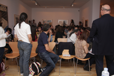 Horacio Fernández. Conferencia sobre Las fotos muestran cosas, los fotomontajes ideas.