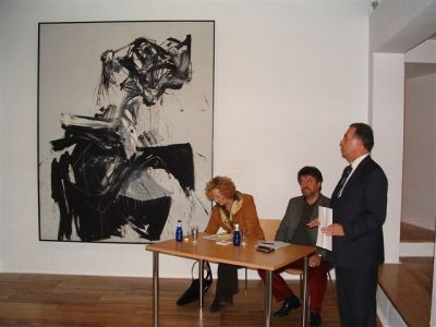 Stella Wittenberg, José Capa Eiríz y Helmut Friedel. Exposición Kandinsky, acuarelas Städtische Galerie im Lenbachhaus, Munich