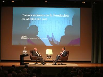 Peridis y Antonio San José en Memorias de la Fundación