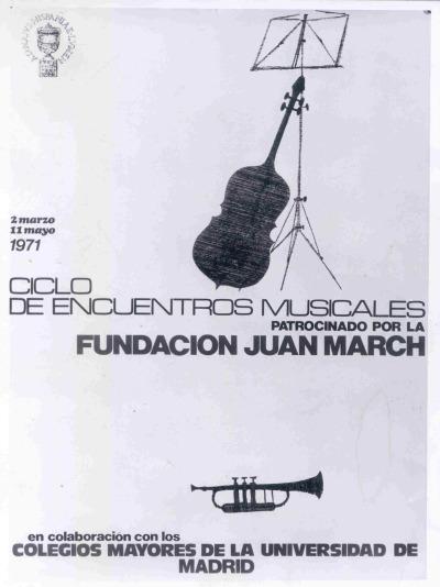 Cartel del ciclo de Encuentros Musicales
