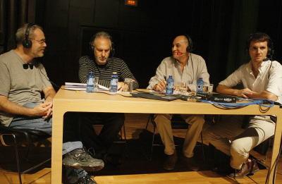 David del Puerto, Jesús Rueda Azcuaga, Juan Manuel Viana Ollorqui y Miguel Morate. Entrevista de RNE