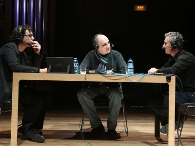 Jesús Navarro, Juan Manuel Viana Ollorqui y Alberto González Lapuente. Entrevista de RNE