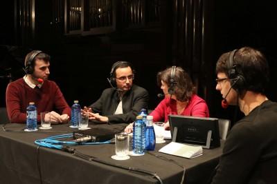 José Rubén Cid, Ignacio Torner, Laura Prieto y Celer Gutiérrez. Entrevista de RNE