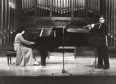 Ana María Gorostiaga y Antonio Arias Gago Gago. Recital de flauta y piano