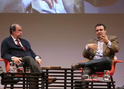 Andrés de Blas y Ignacio Sánchez-Cuenca. En conferencia sobre Independentismos
