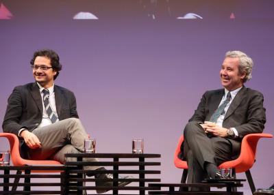 José Ignacio Torreblanca Payá y José María de Areilza. En conferencia sobre Europa, presente y futuro