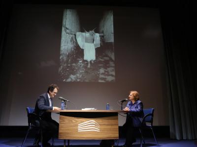 Cristina García Rodero y Íñigo Alfonso en Memorias de la Fundación