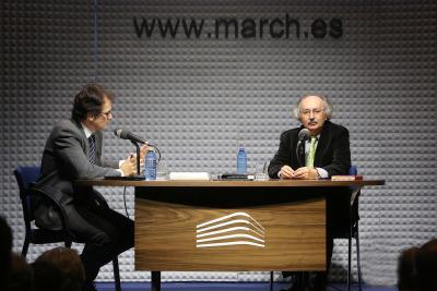 Íñigo Alfonso y Antonio Colinas en Memorias de la Fundación