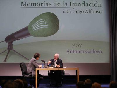 Íñigo Alfonso y Antonio Gallego Gallego en Memorias de la Fundación