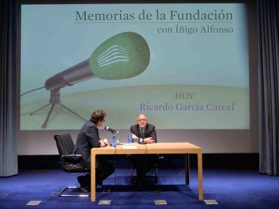 Íñigo Alfonso y Ricardo García Cárcel en Memorias de la Fundación