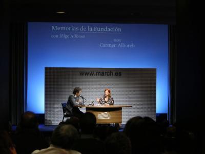 Íñigo Alfonso y Carmen Alborch en Memorias de la Fundación