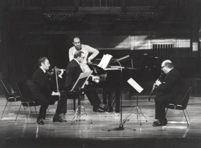 Agustín León Ara, José Tordesillas y Carmelo Bernaola. Concierto Béla Bartok