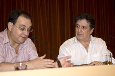 Luis Landero en coloquio con Fernando Valls