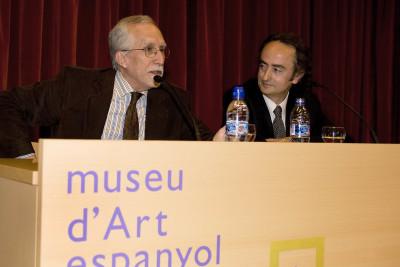 Luis Mateo Díez y José Carlos Llop. En ciclo Poética y Narrativa