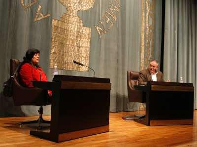 Almudena Grandes y Ángel Basanta