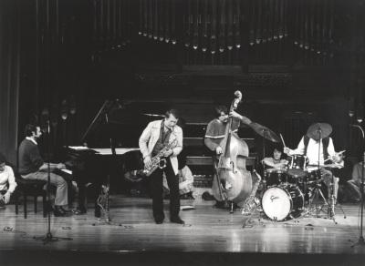 Cuarteto de Pedro Iturralde y Pedro Iturralde. Concierto Música para una exposición Mondrian