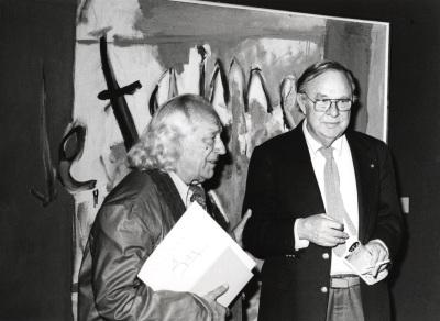 Rafael Alberti y Robert Motherwell. Exposición Robert Motherwell