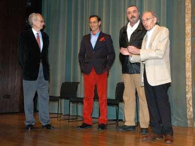 Andrés Amorós Guardiola, Manuel Bandera, Juan Alberto López y José Luis Alonso de Santos