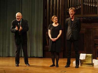 Ignacio Amestoy, Ainhoa Amestoy y Eloy Azorín