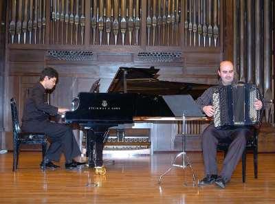 Dúo AN-tifon, Ananda Sukarlan y Ángel Luis Castaño. Concierto Música española contemporánea para acordeón y piano - Aula de (Re)estrenos (52)