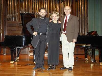 Miguel Manzano y Atlantis Piano Dúo. Concierto Música contemporánea para dos pianos - Aula de (Re)estrenos (65)