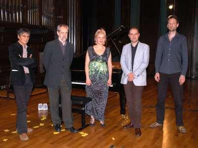 Santiago Lanchares, Adolfo Núñez, Sonsoles Alonso, Jesús Torres y Jorrit Tamminga. Concierto Aula de (Re)estrenos (67)