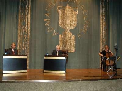 Hermann Danuser, Cristóbal Halffter y Beate Altenburg. Concierto Cristóbal Halffter en diálogo con Hermann Danuser - Aula de (Re)estrenos (75)