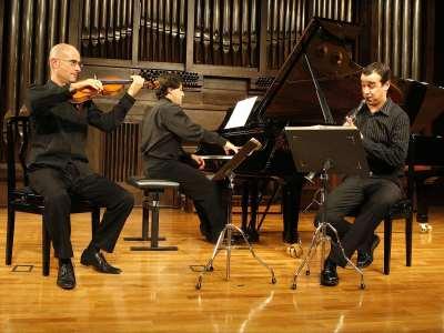 Trío Messiaen, David Ballesteros, Gustavo Díaz Jerez y Cristo Barrios. Concierto Robert Gerhard - Joaquim Homs - Aula de (Re)estrenos (79)